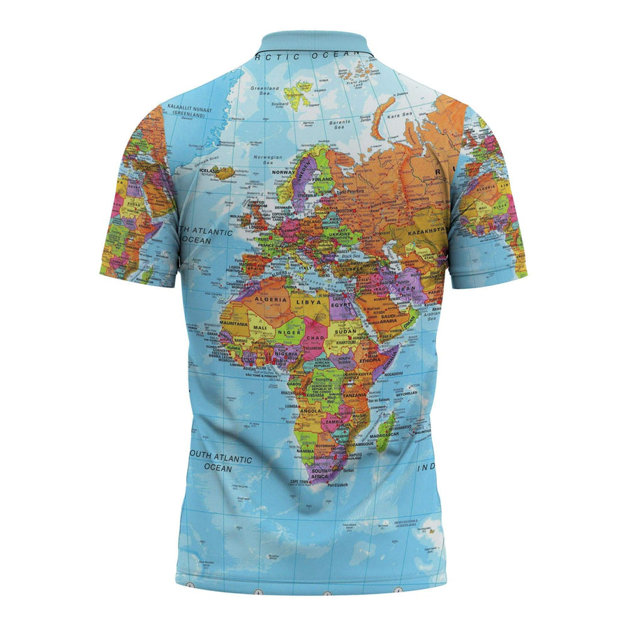 World Map Africa Polo Shirt