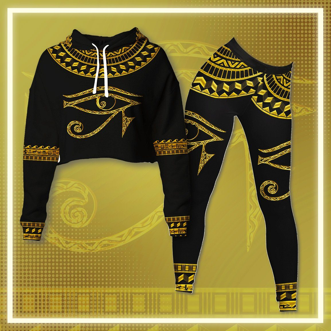 RA Egypt Cropped Hoodie & Leggings Set Cropped Hoodie Leggings Set Tianci