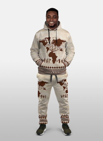 Root Africa Fleece All-over Hoodie And Joggers Set