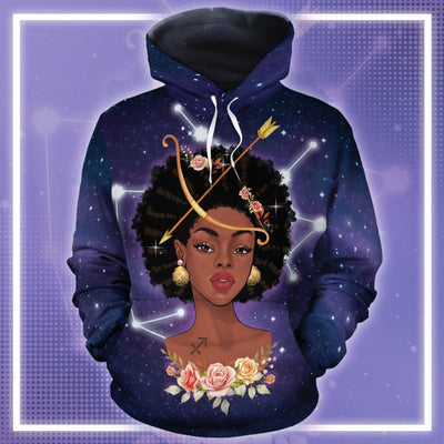 Sagittarius Queen Art All-Over Hoodie