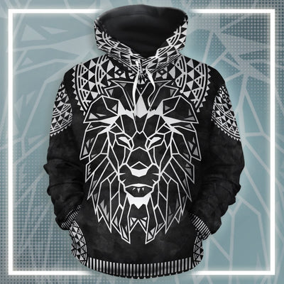 Silver Lion 2 All-Over Hoodie