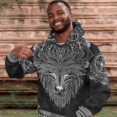 Silver Lion All-Over Hoodie