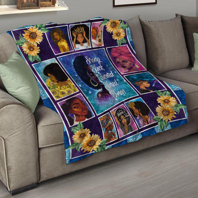 Strong Black Educated Blessed Woman Quilt
