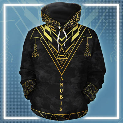 The Great Gold Anubis 2 All-over Hoodie