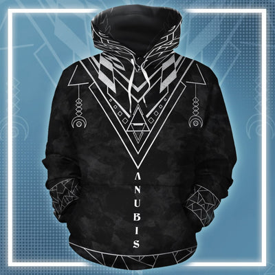 The Great Silver Anubis 2 All-over Hoodie
