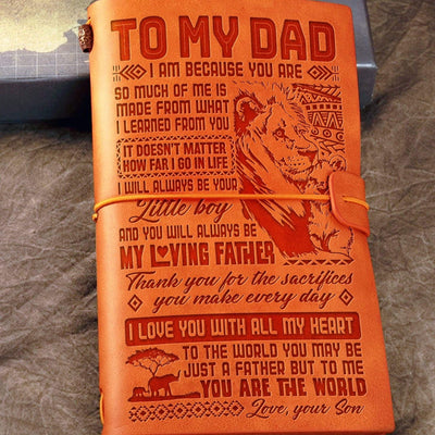 Son to Dad - You Are The World To Me - Vintage Journal