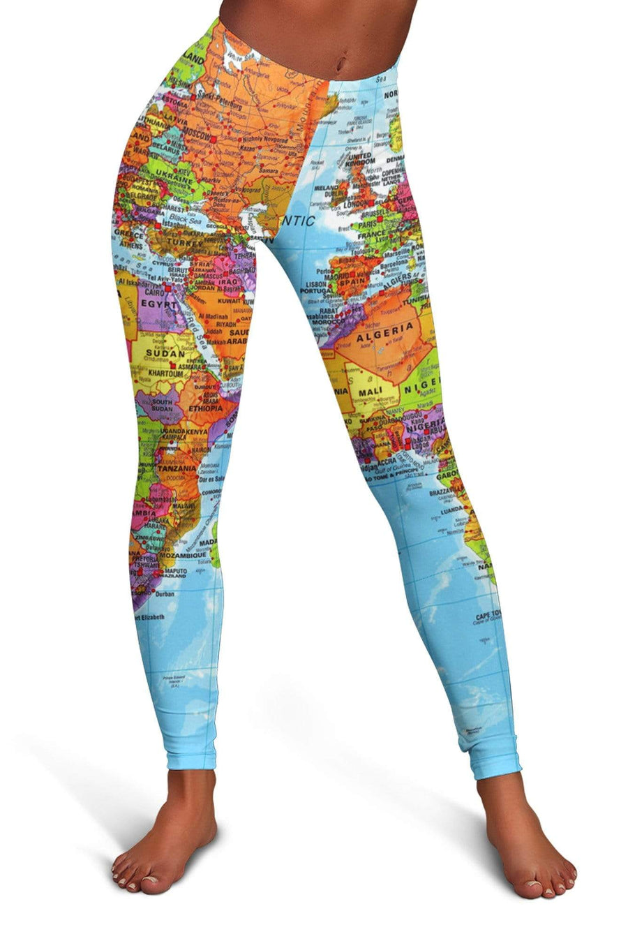 World Map Africa Leggings
