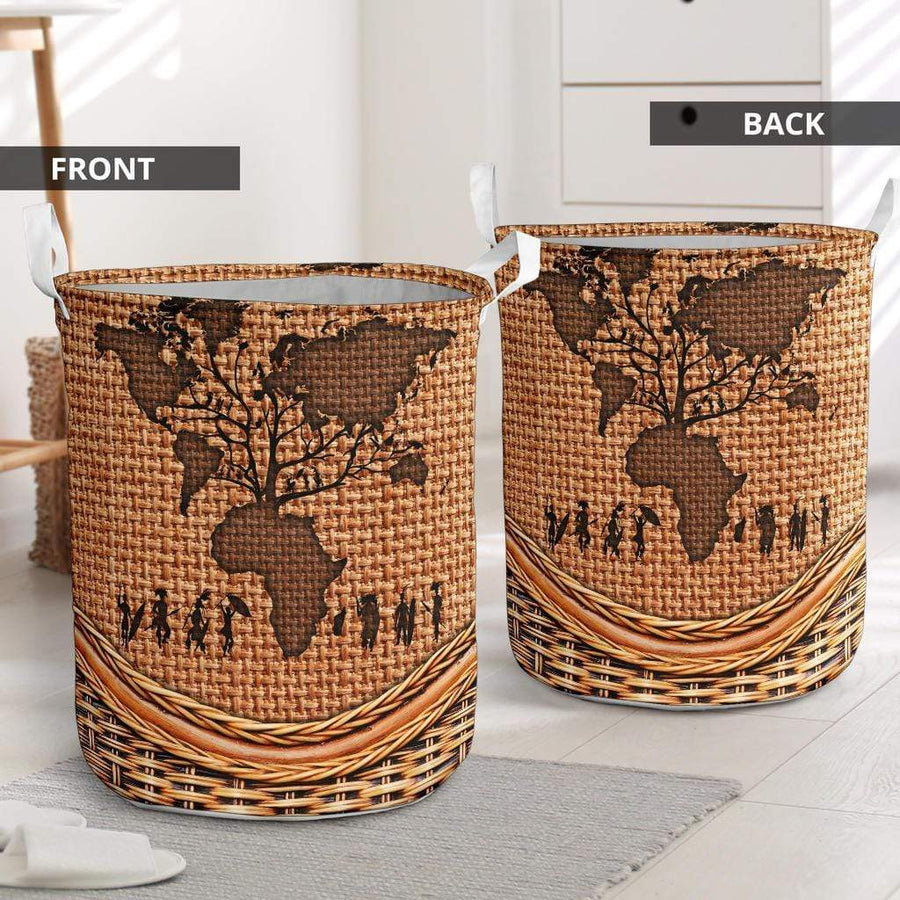 Root Africa Rattan Teaxture Laundry Basket