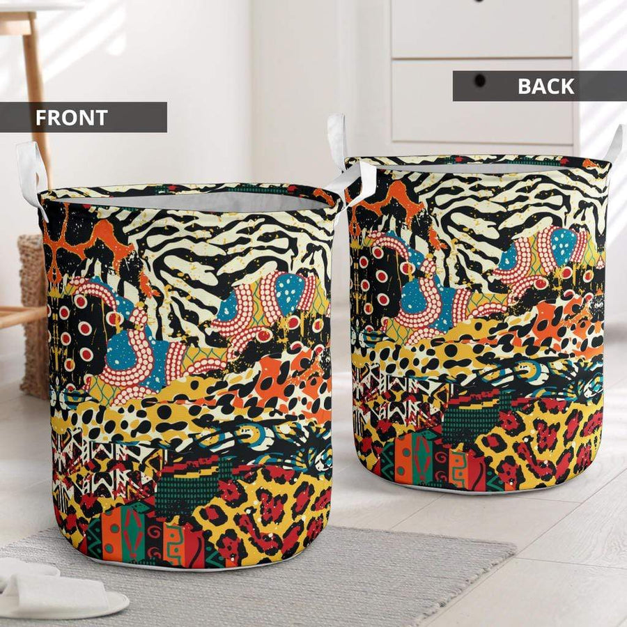 African Patchwork 2 Laundry Basket