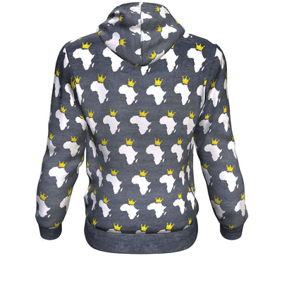 African Crown All-Over Hoodie