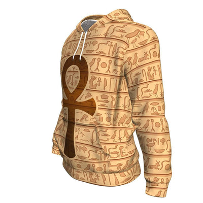 Ankh Symbol All-Over Hoodie