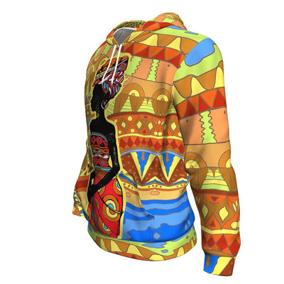 African Woman Figure Painting All-Over Hoodie