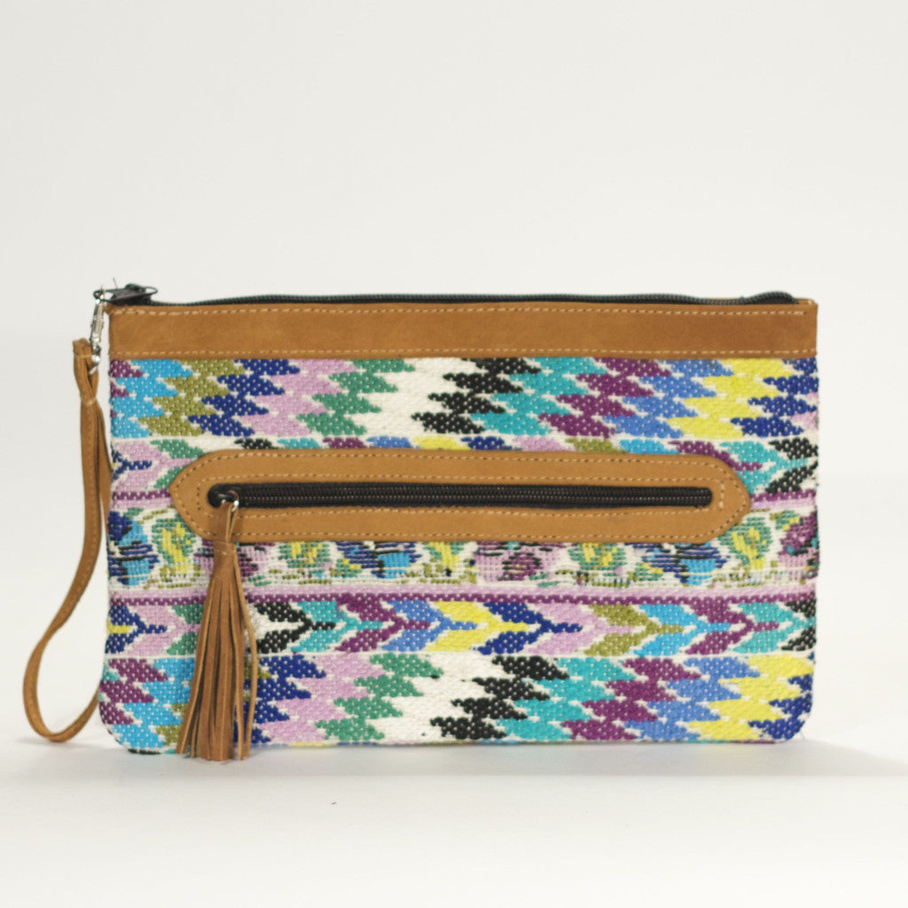Patzicia El Mano Clutch Blues + Mauve