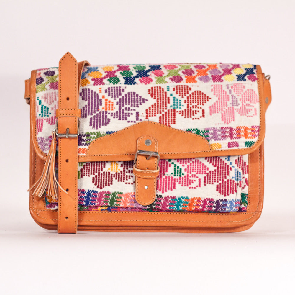Coban Escuela Satchel White + Multi