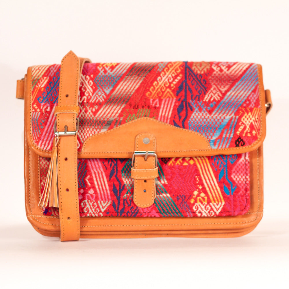 Concepcion Escuela Satchel Red + Multi