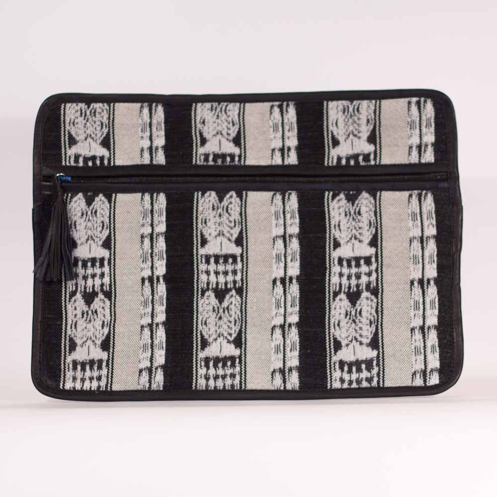 Corte Laptop Love Black White Cream Stripe