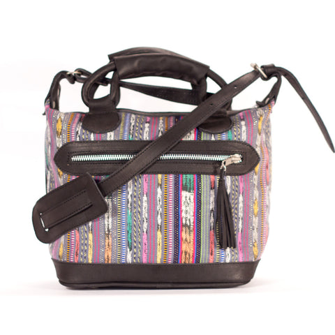 Corte Mini Maletta Charcoal + Multi Stripe
