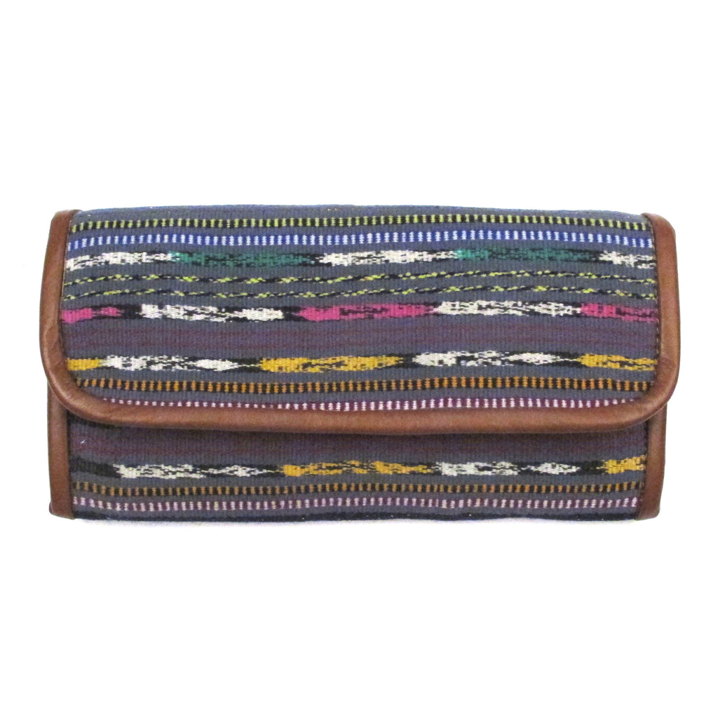 Ikat Corte Wallet Charcoal Stripe