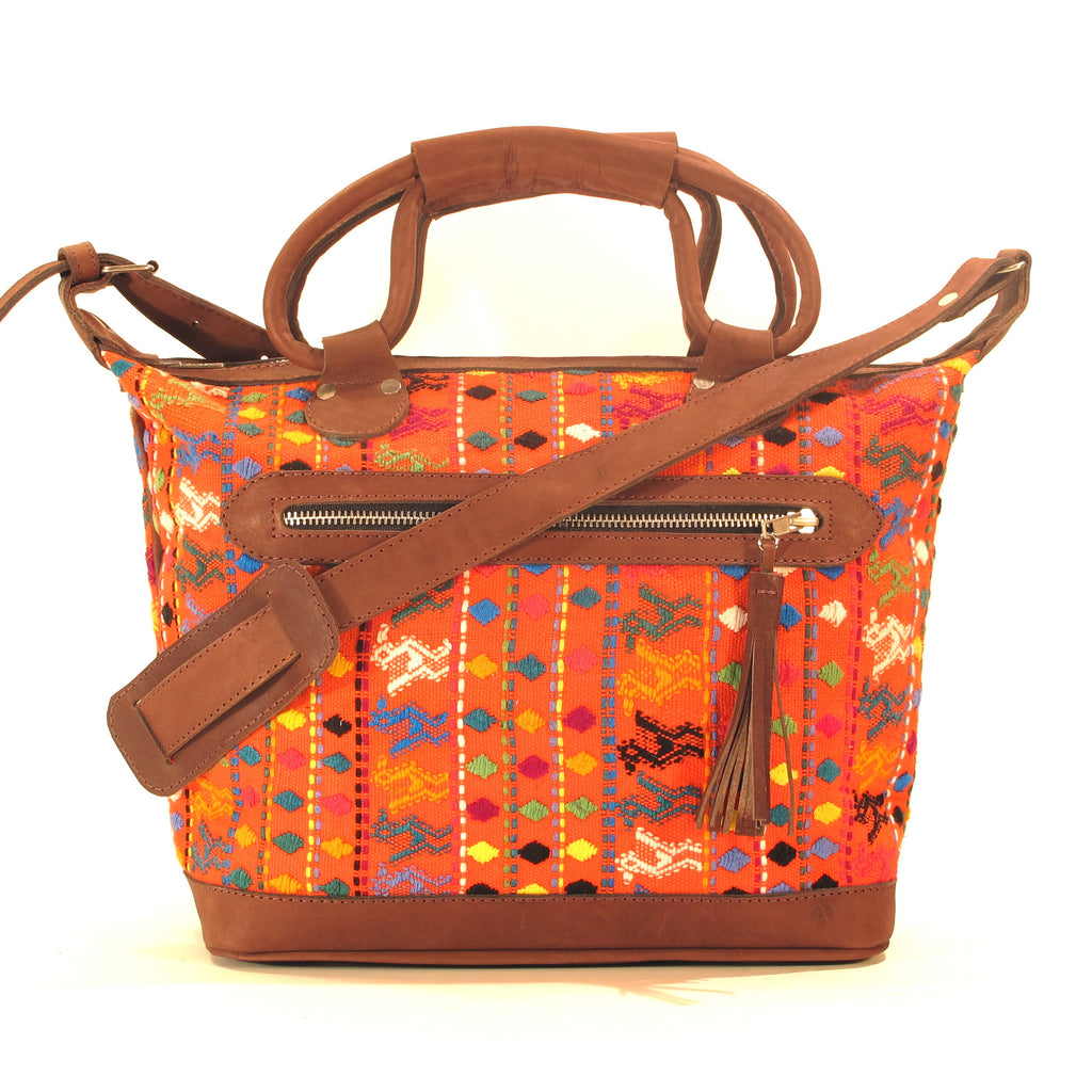 San Lucas Toliman Maletta Orange Brocade