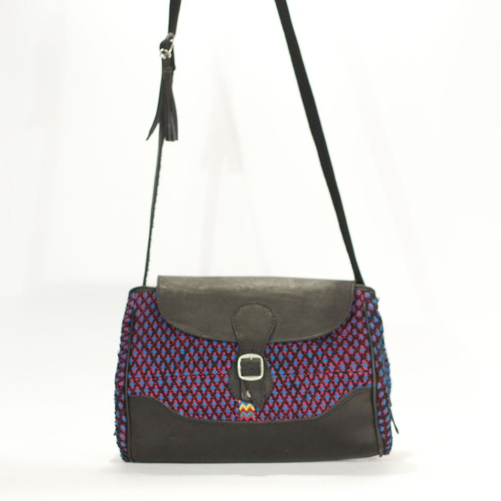 Optical Illusion Concha Sling Navy Burgundy + Black