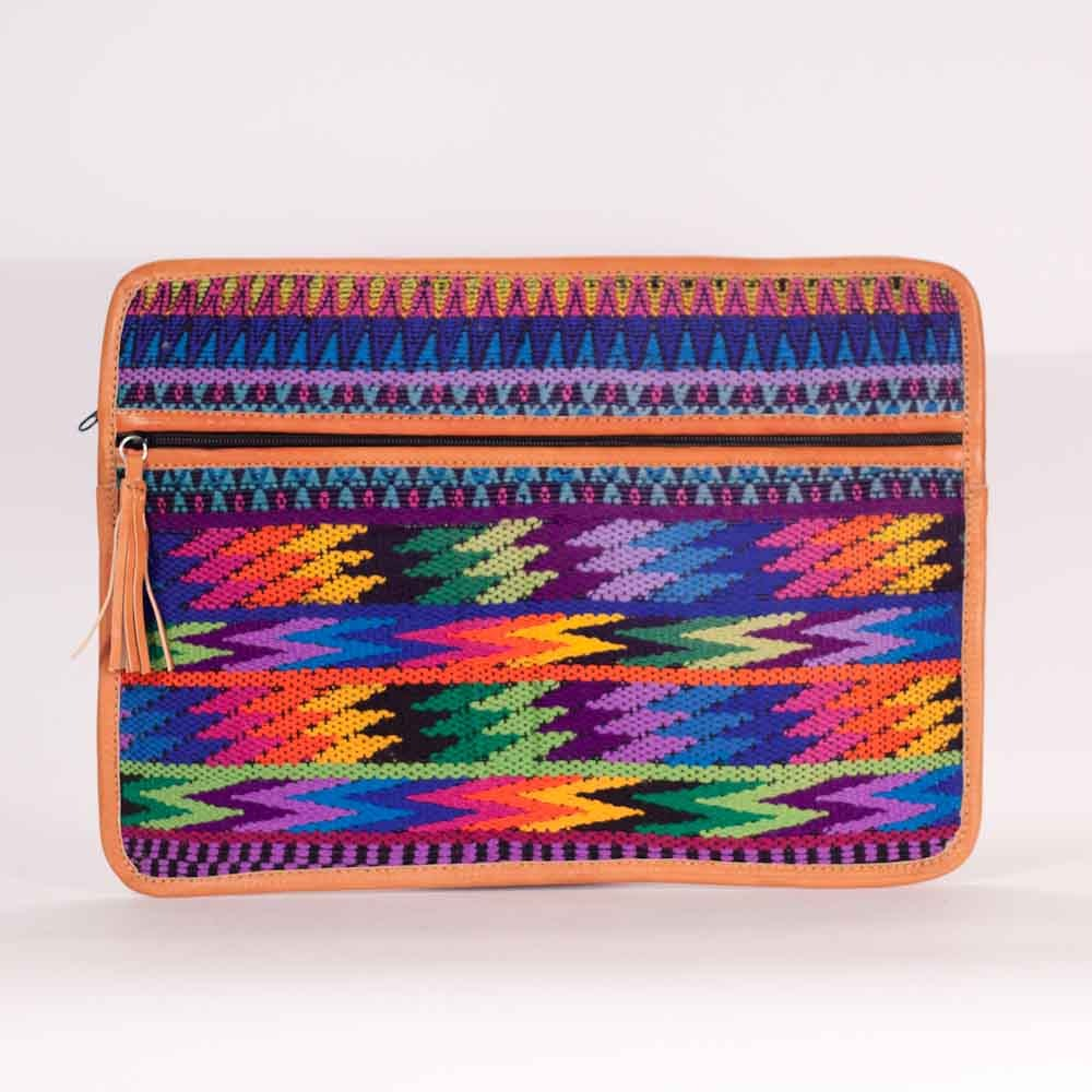 Horizontal Zig Zag Guipil Laptop Love Rainbow