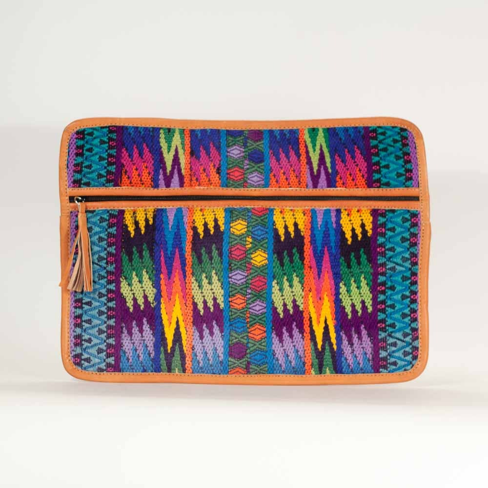 Vertical Zig Zag Guipil Laptop Love Rainbow