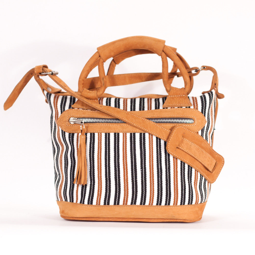 Santiago Stripes Mini Maletta White + Stripes