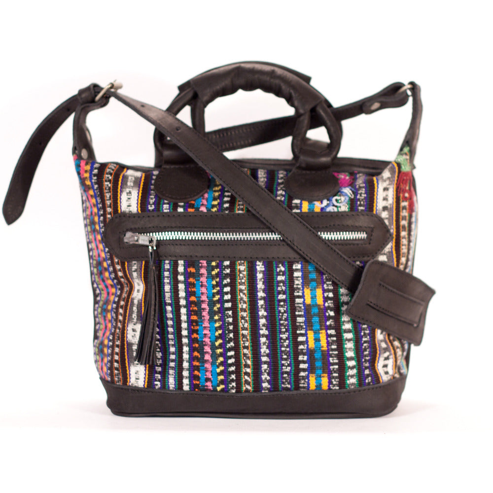 Solola Mini Maletta Black + Multi Stripe