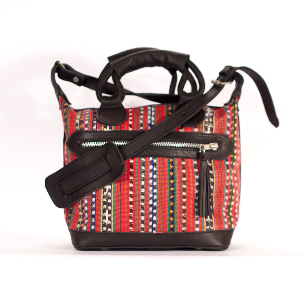 Solola Mini Maletta Red + Multi Stripe