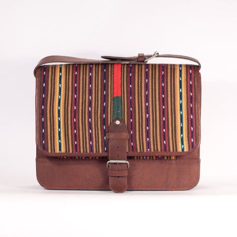 Solola Perraje Man Satchel Browns Stripe