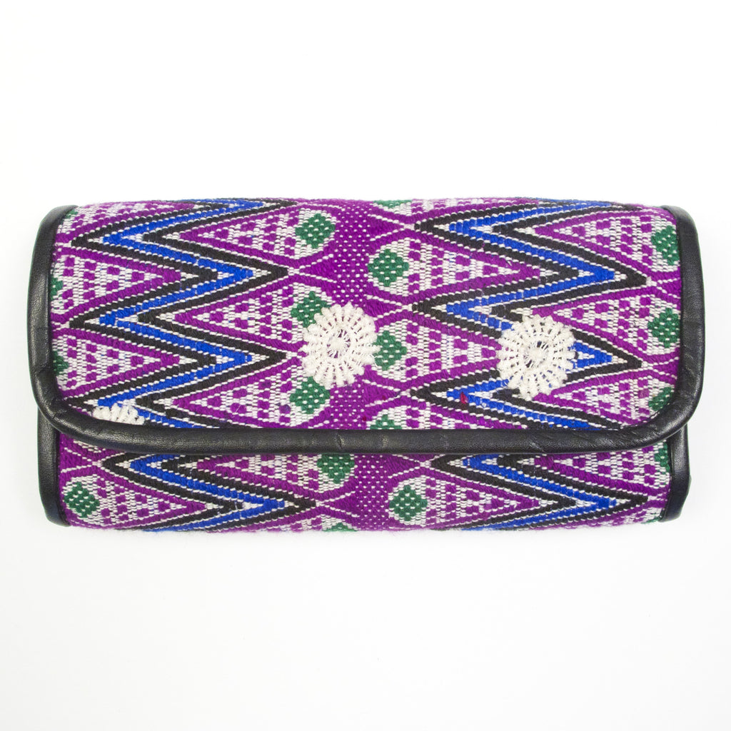 Totonicapan Wallet Purple Zig Zag