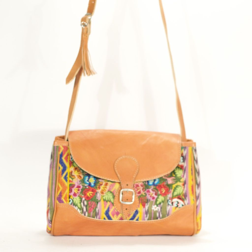 Xela Concha Sling Olive + Yellow + Rose