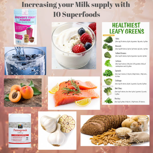 Increase your milk supply with these 10 superfoods
