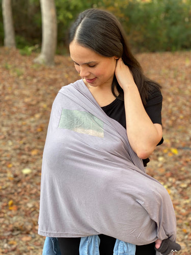 Light Gray Nursing Cover