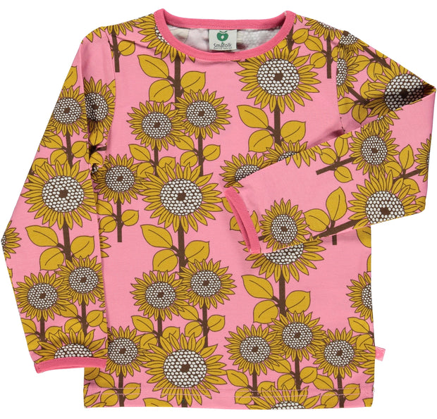 smafolk long sleeve sunflower t shirt sea pink
