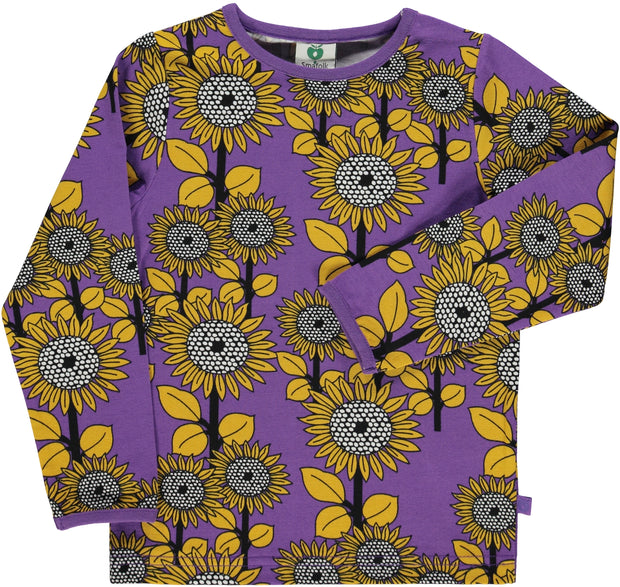 smafolk long sleeve sunflower t shirt purple heart