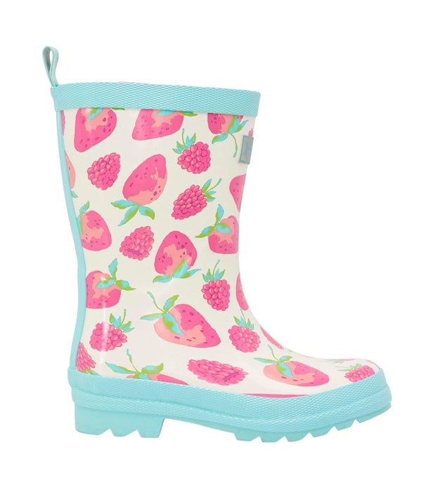 Hatley Kids Shiny Rain Boots - Delicious Berries