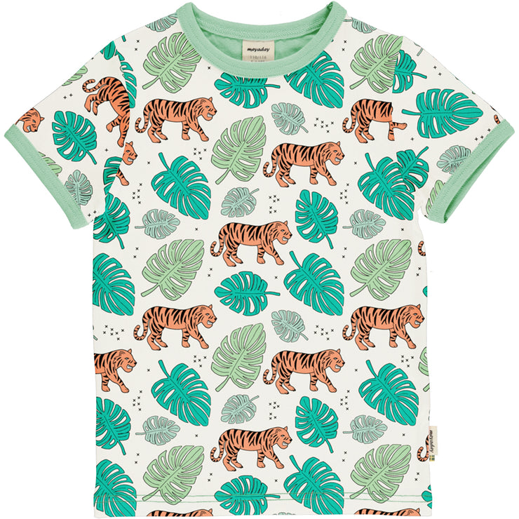 meyadey short sleeve top tiger jungle