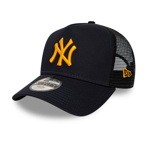 New Era 9FORTY League Essential Kids New York Yankees Snapback Cap - Navy / Yellow