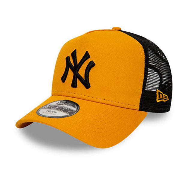 New Era 9FORTY League Essential Kids New York Yankees Snapback Cap - Orange / Black