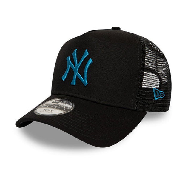 New Era 9FORTY League Essential Kids New York Yankees Snapback Cap - Black / Blue