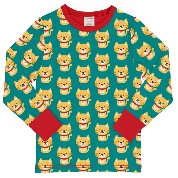 Maxomorra Long Sleeved Top - Cat