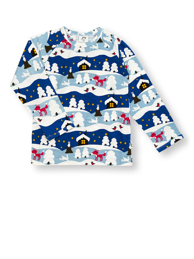 jny long sleeve shirt snowy cottage