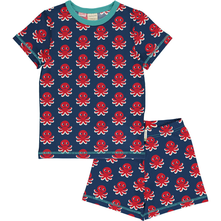 Maxomorra Short Pyjama Set - Octopus