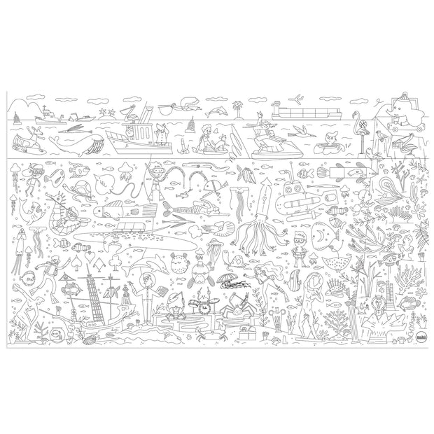 makii giant colouring picture water