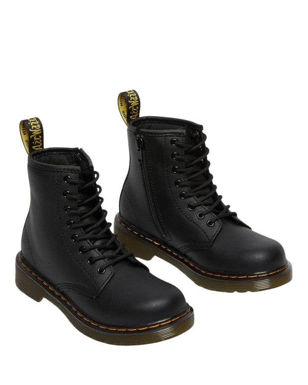Dr. Martens Junior 1460 Leather Ankle Boots - Black