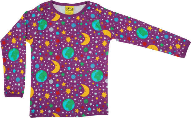 Duns Sweden Long Sleeved Mother Earth Top - Bright Violet