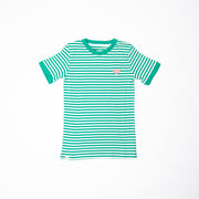 alba of denmark aia vigga short sleeve adult top pepper green magic stripes