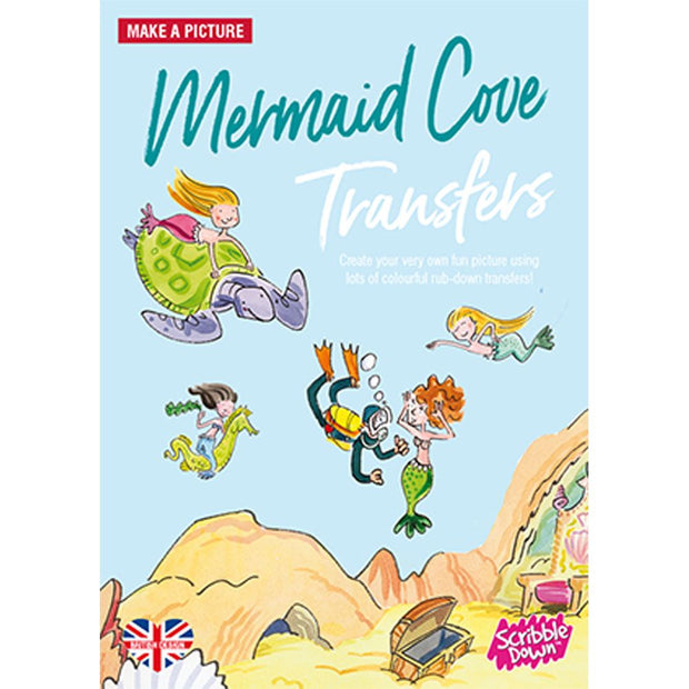 Scribble Down Activity Transfer Pack - Mermaid Cove