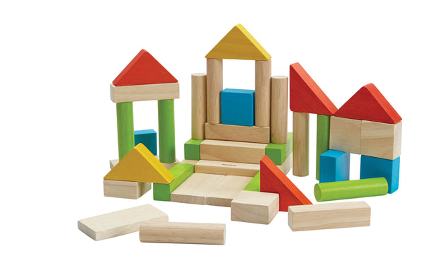 plan toys colourful 40 unit blocks